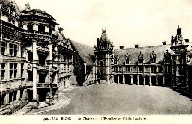 Blois (41) Château, aile Louis XII CPA