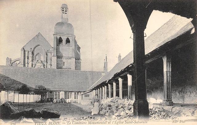 Blois (41) Eglise Saint-Saturnin et cimetière CPA