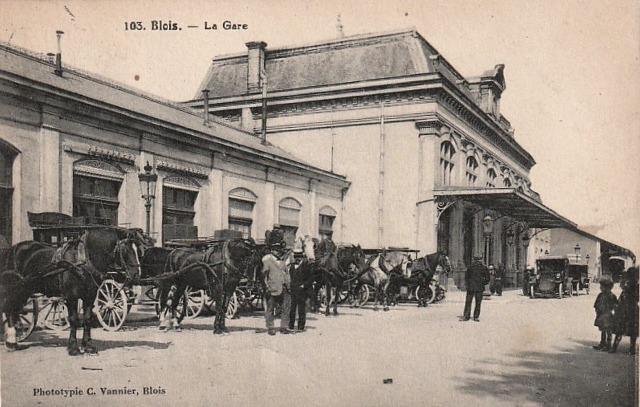 Blois (41) Gare CPA
