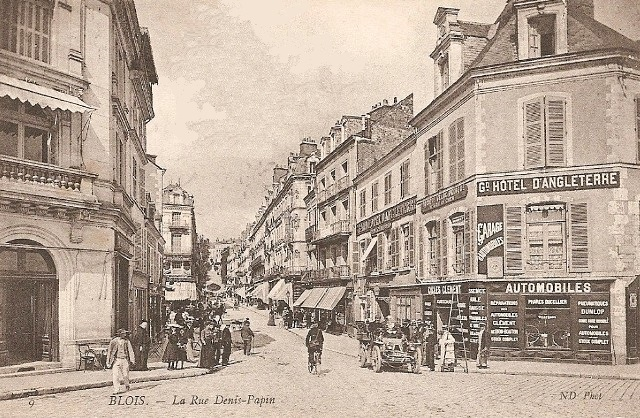 Blois (41) Rue Denis Papin CPA