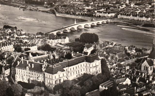 Blois (41) Vue aérienne CPA