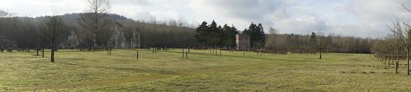 Bouconville-Vauclair (Aisne) arboretum panorama
