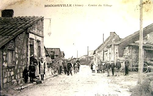 Bouconville-Vauclair (Aisne) CPA centre-ville