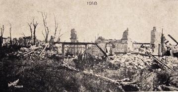 Bouconville-Vauclair (Aisne) CPA Château de La Bove 1918