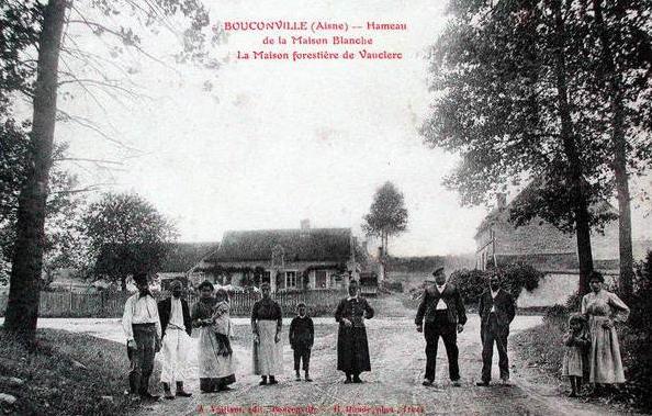 Bouconville-Vauclair (Aisne) CPA hameau de Maison Blanche