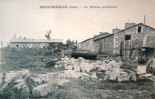 Bouconville-Vauclair (Aisne) CPA maisons provisoires