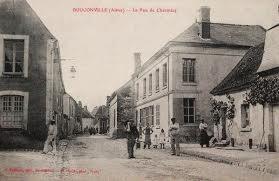 Bouconville-Vauclair (Aisne) CPA rue de Chermisy