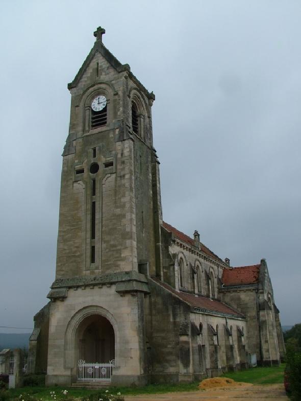 Bouconville-Vauclair (Aisne) Eglise Saint-Crépin-Saint-Crépinien