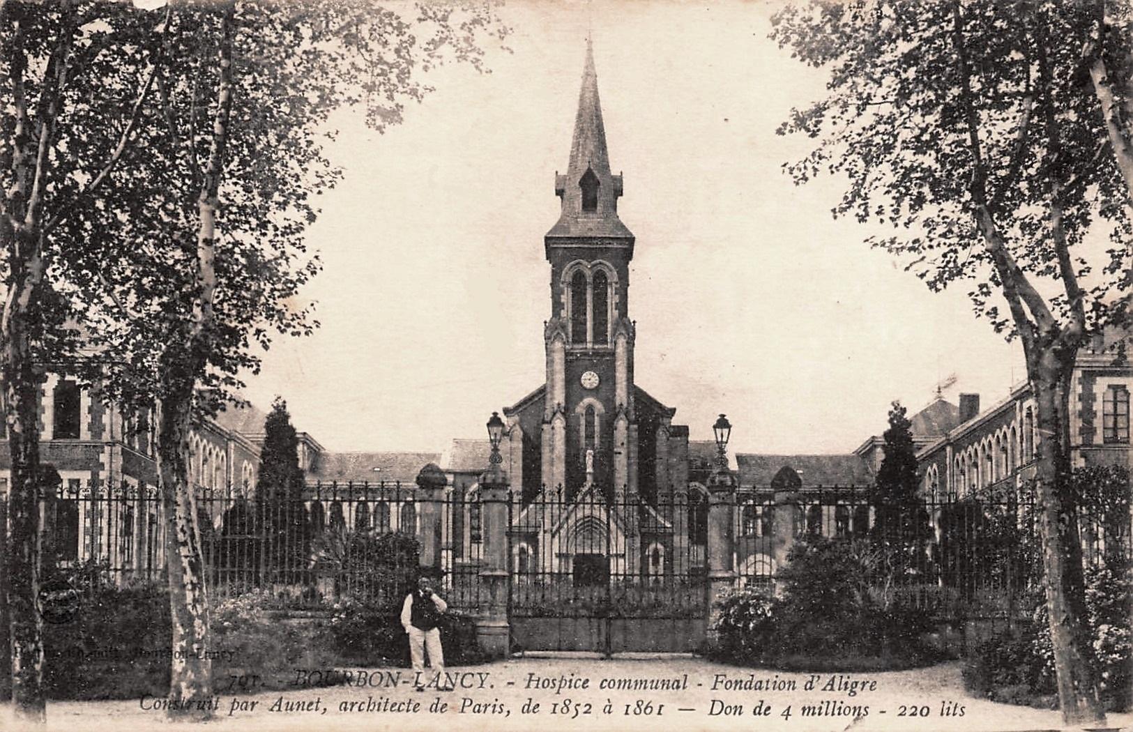 Bourbon-Lancy (Saône-et-Loire) L'église de l'Hospice CPA