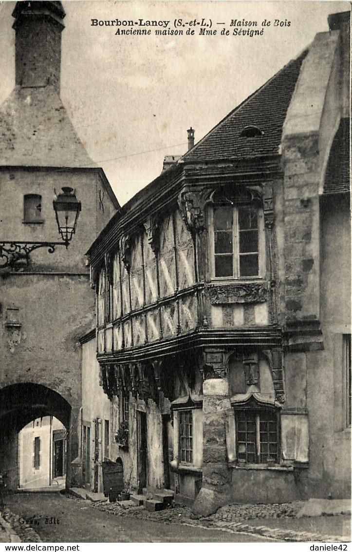 Bourbon-Lancy (Saône-et-Loire) La maison de Mme de Sévigné CPA
