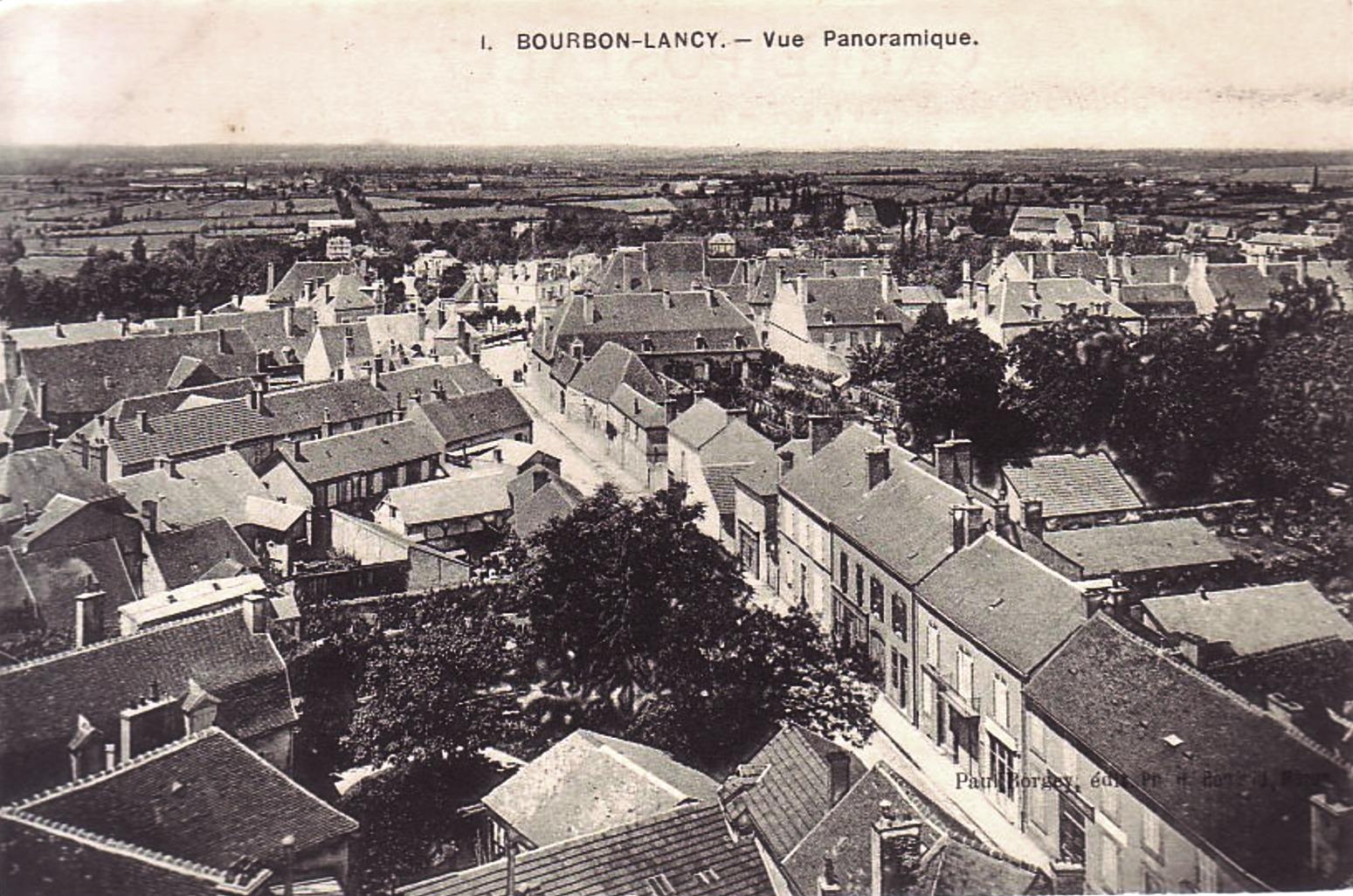 Bourbon-Lancy (Saône-et-Loire) Vue générale CPA
