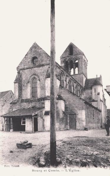 Bourg-et-Comin (Aisne) CPA Eglise Saint Martin