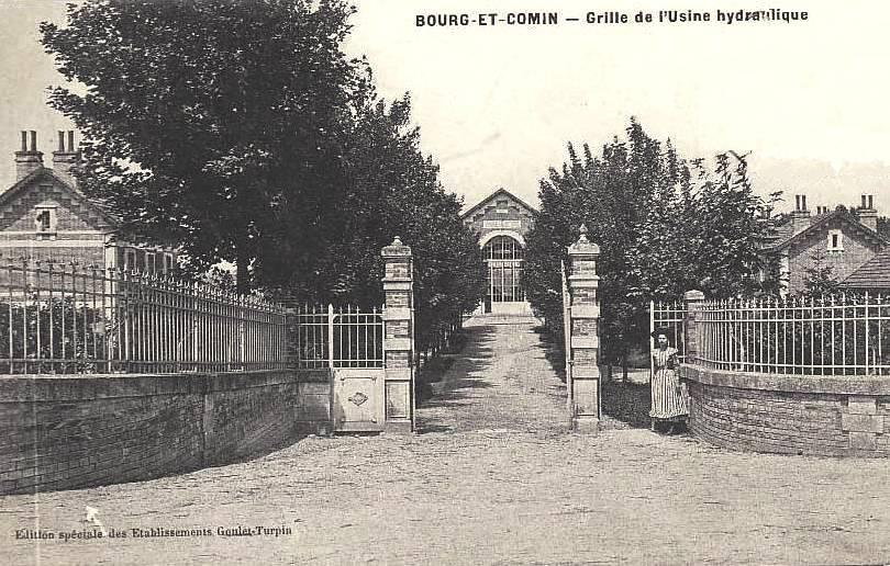 Bourg-et-Comin (Aisne) CPA L'usine hydraulique entrée