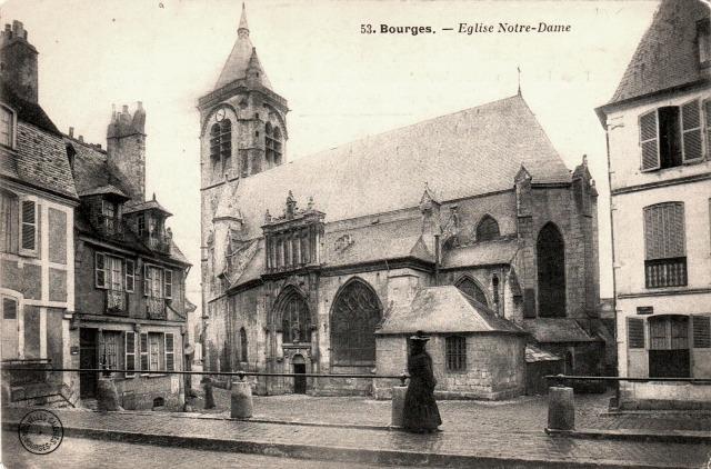 Bourges (18) L'église Notre-Dame CPA