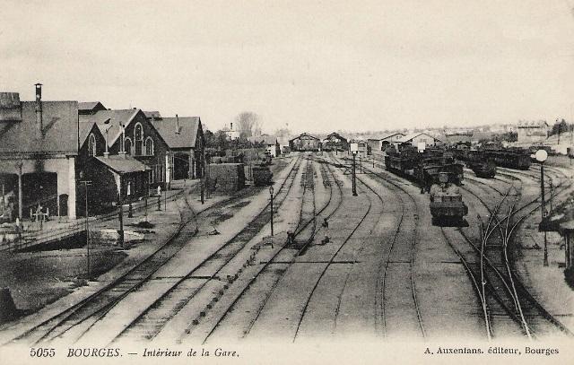 Bourges (18) La gare CPA