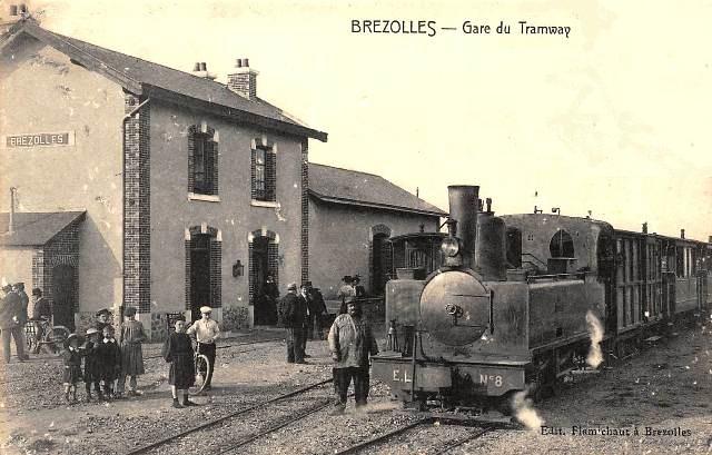 Brézolles (28) La gare du tramway CPA