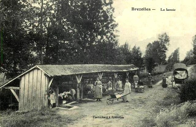 Brézolles (28) Le lavoir CPA