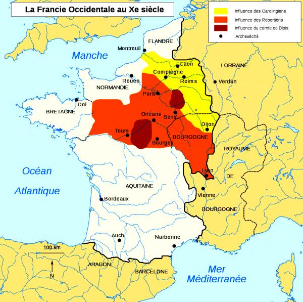 Le Royaume des derniers Carolingiens au Xème siècle