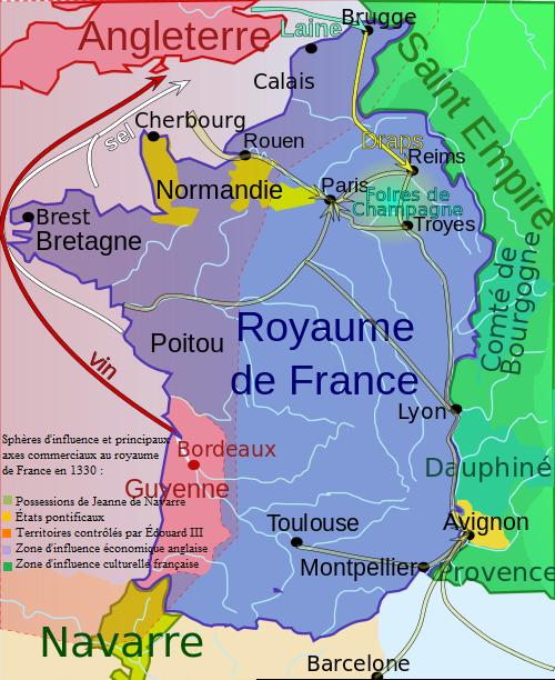 Le royaume des Capétiens, Guerre de Cent Ans en 1330