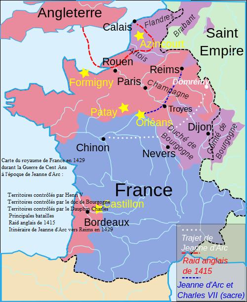 Le royaume des Capétiens, Guerre de Cent Ans en 1429