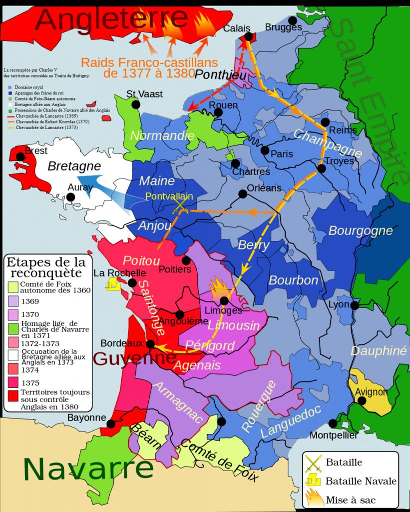 Le royaume des Capétiens, Guerre de Cent Ans en 1380