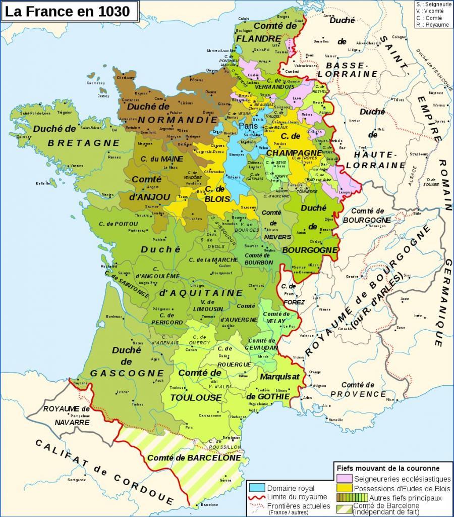 Carte la France sous son règne