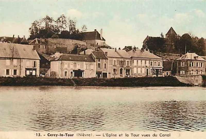 Cercy-la-Tour (Nièvre) L'église et la tour CPA