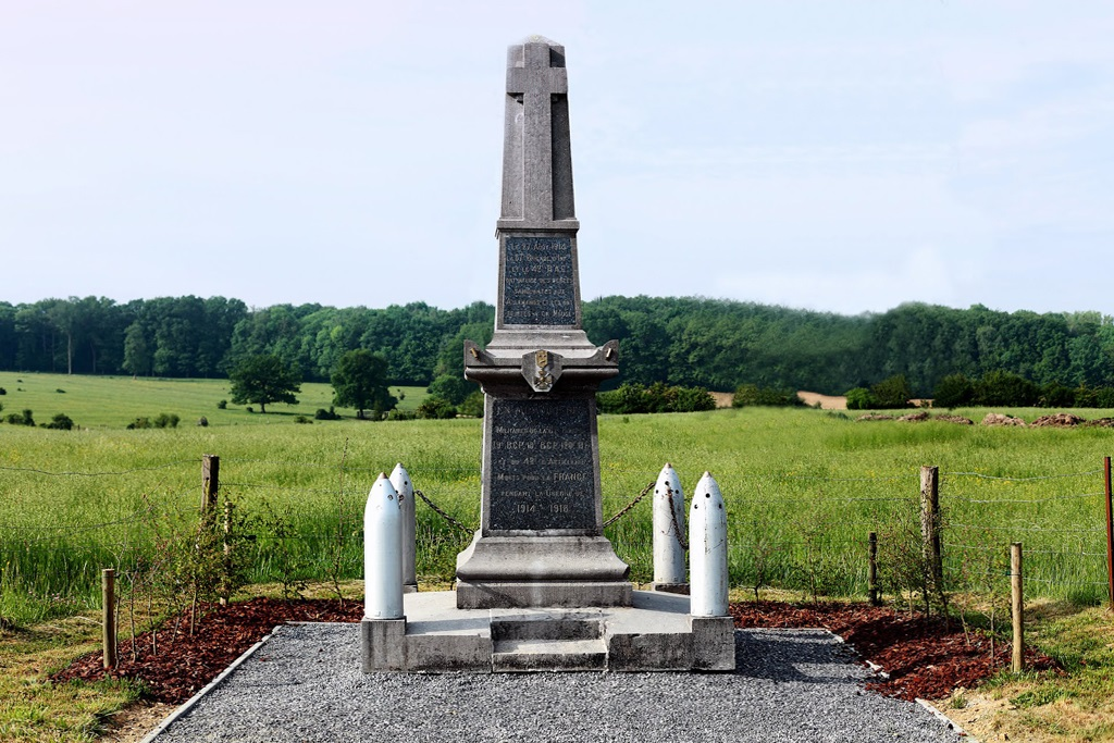 Cesse (Meuse) Le monument aux morts (champ de bataille)