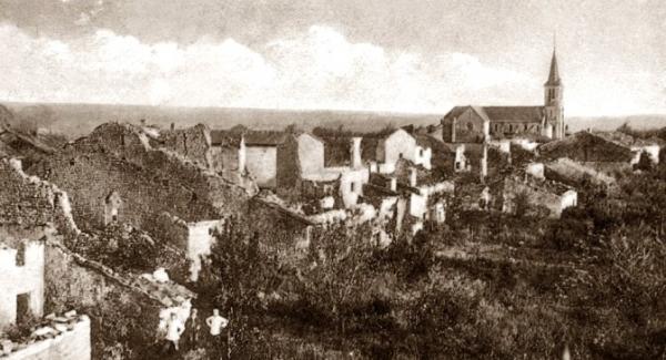 Cesse (Meuse) Vue générale 1914-1918 CPA