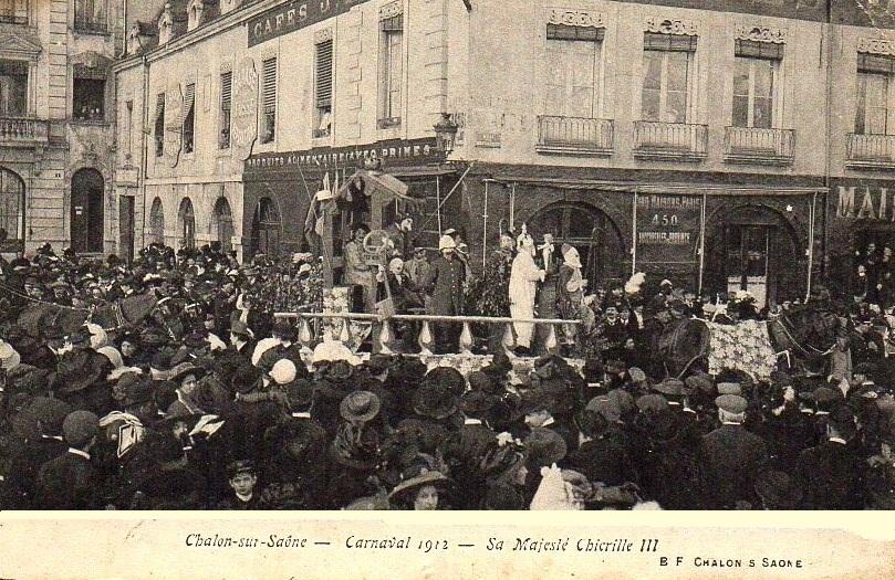 Chalon-sur-Saône (71) Carnaval 1912 CPA