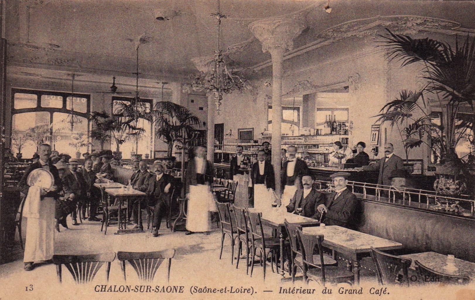 Chalon-sur-Saône (71) Grand café CPA