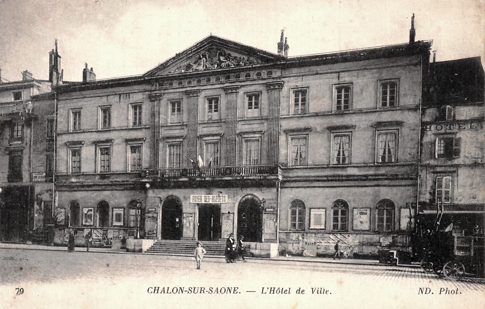 Chalon-sur-Saône (71) Hôtel de ville CPA