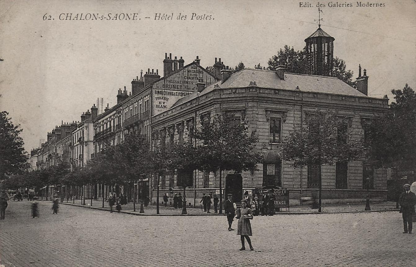 Chalon-sur-Saône (71) Hôtel des Postes CPA
