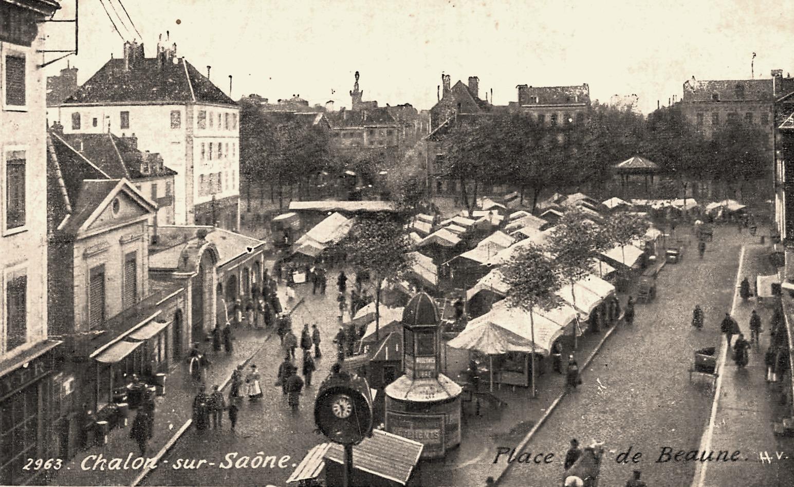 Chalon-sur-Saône (71) Place de Beaune CPA