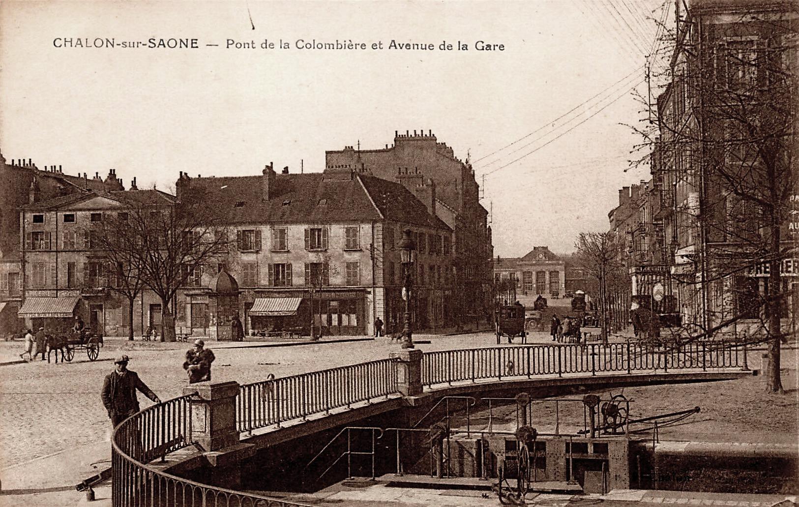 Chalon-sur-Saône (71) Pont de la Colombière CPA