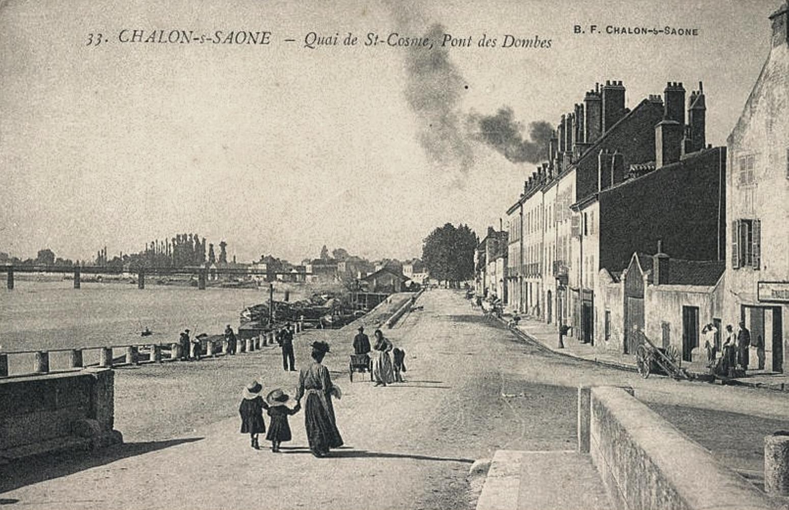 Chalon-sur-Saône (71) Quai de Saint-Côme CPA