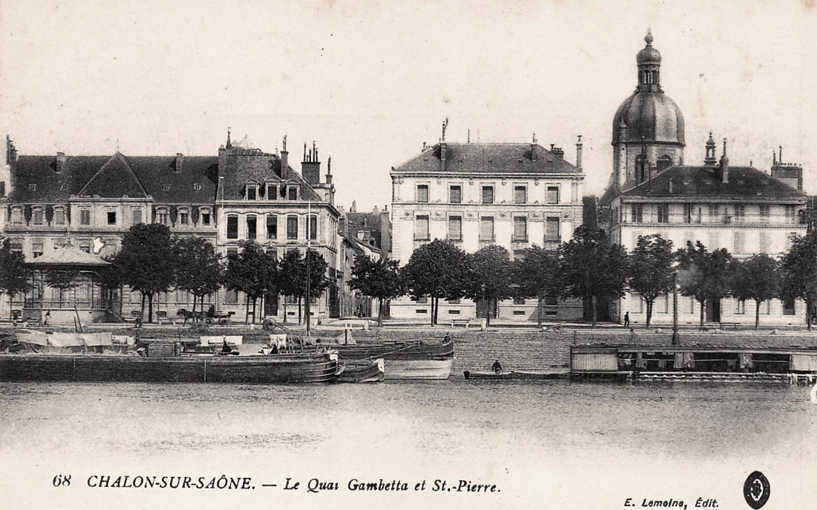 Chalon-sur-Saône (71) Quai Gambetta CPA