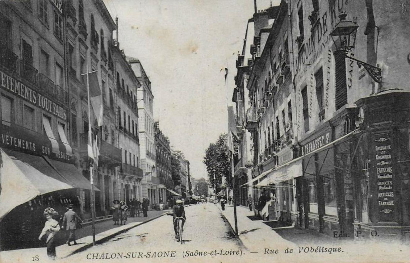 Chalon-sur-Saône (71) Rue de l'Obélisque CPA