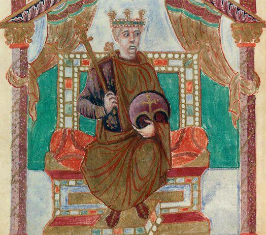 Charles II dit le Chauve, enluminure du psautier du IXe