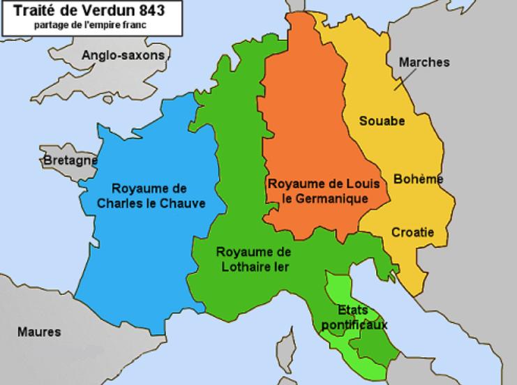 Charles II dit le Chauve, Traité de Verdun 843