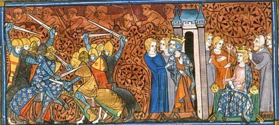 Charles III, enluminure représentant son emprisonnement