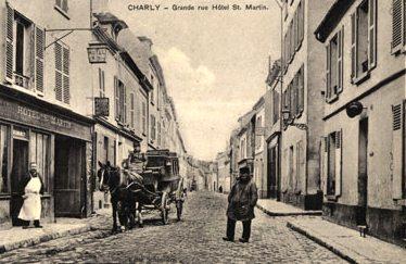 Charly-sur-Marne (Aisne) CPA Grande rue et hôtel