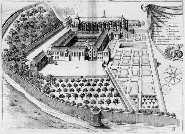 Abbaye de Saint-Père au XVIIème siècle