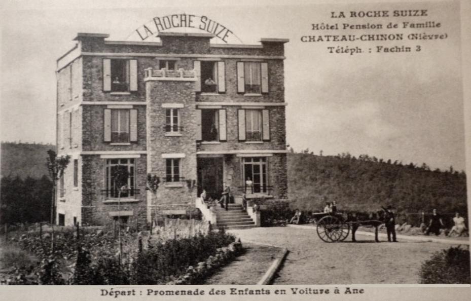 Château-Chinon (Nièvre) L'Hôtel La Roche Suize CPA