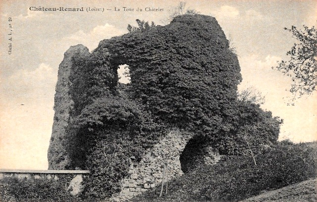 Château-Renard (45) Château féodal, tour du chastelet CPA