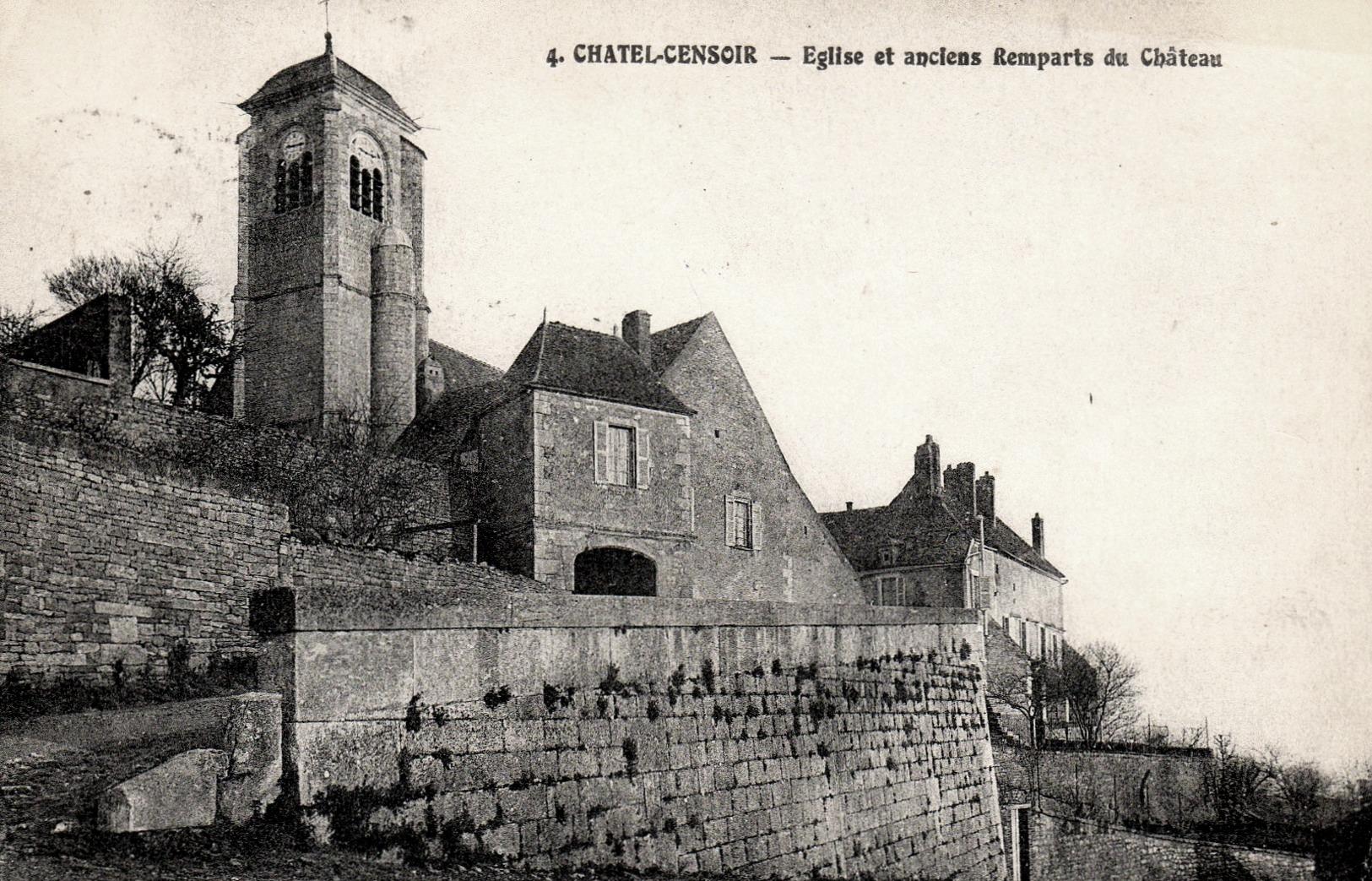 Châtel-Censoir (89) L'église et les remparts CPA