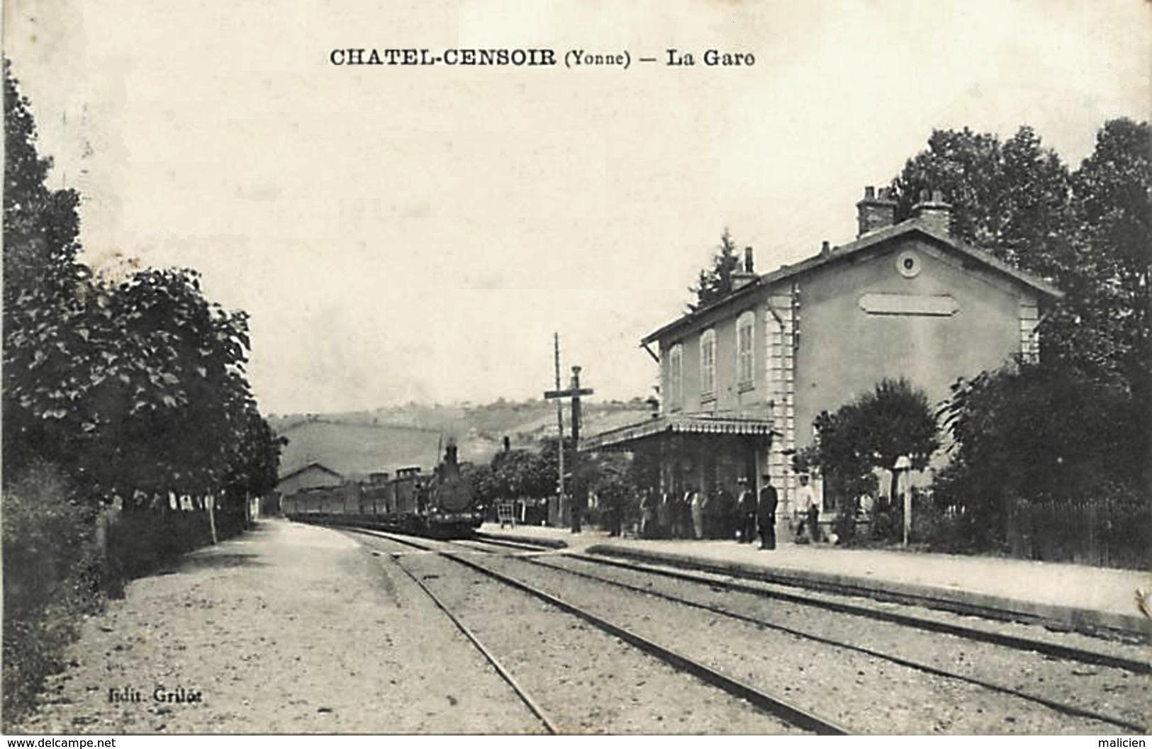 Châtel-Censoir (89) La gare CPA