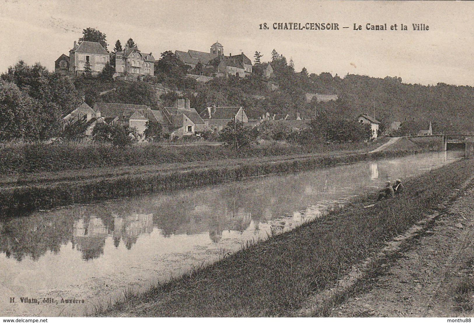 Châtel-Censoir (89) Le canal CPA