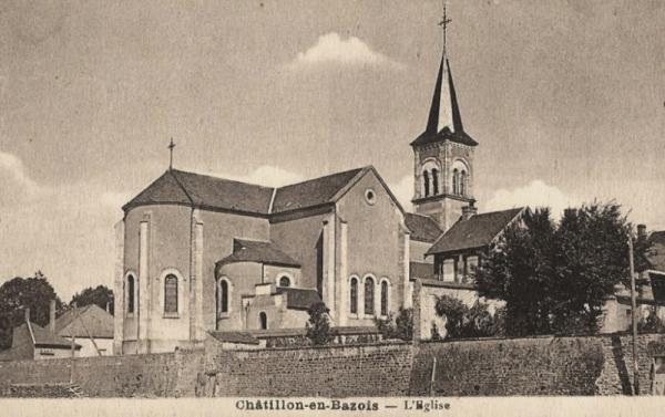 Châtillon-en-Bazois (Nièvre) L'église CPA
