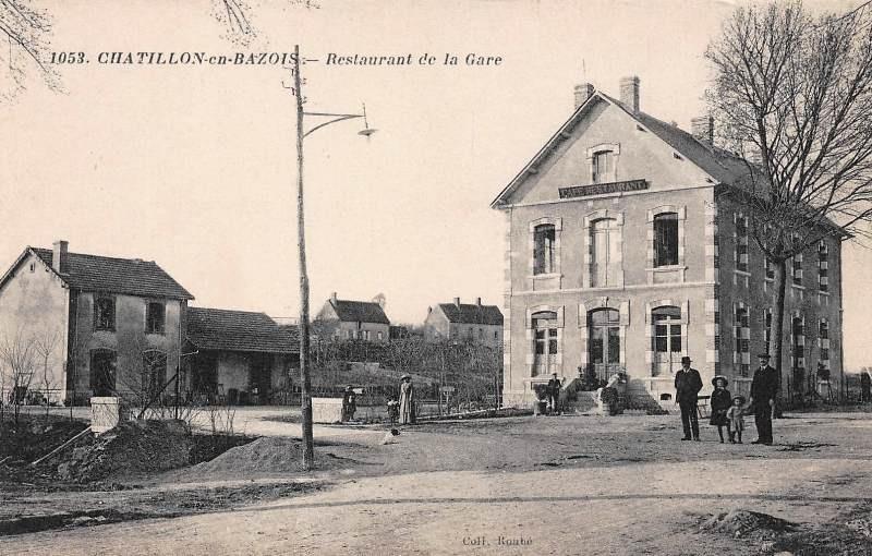 Châtillon-en-Bazois (Nièvre) Le restaurant de la gare CPA